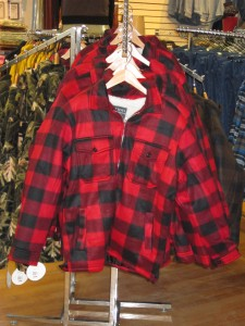 Buffalo Plaid, Sherpa lined jackets to keep the guys warm while working outside this season.